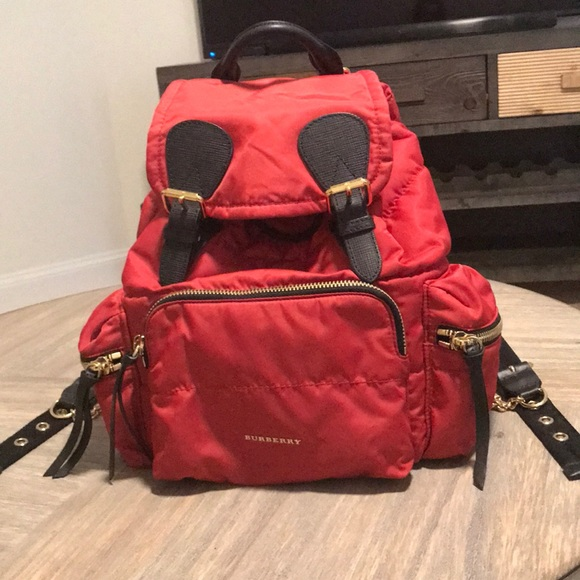 711388d22f2a Burberry Red Medium Nylon Backpack
